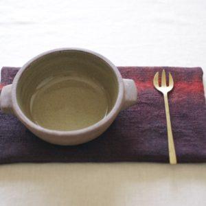 鍋敷き 草木染めのポットマット《SHIBORI インド茜 × 藍》