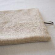 鍋敷き 手織り茶綿のポットマット(大)