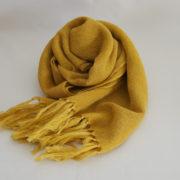 草木染め オーガニックコットン&ウールのストール《黄色》