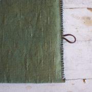 鍋敷き 草木染めのポットマット《モスグリーン》