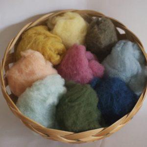 草木染め羊毛9色セット