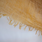 草木染め 柔らかリネンガーゼのストール《マスタードA》