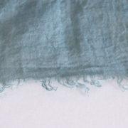 草木染め 柔らかリネンガーゼのストール《藍×矢車玉》