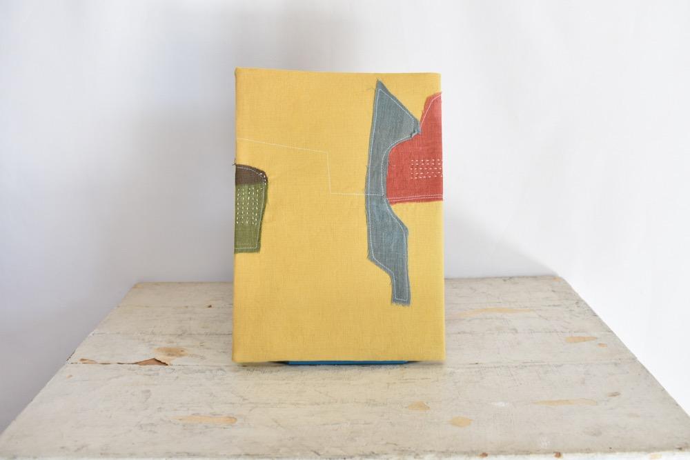 草木染め 大人のリネンのノートカバー コラージュ♯01