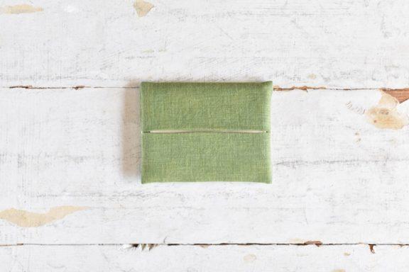 草木染め 大人のリネンのポケットティッシュカバー #26