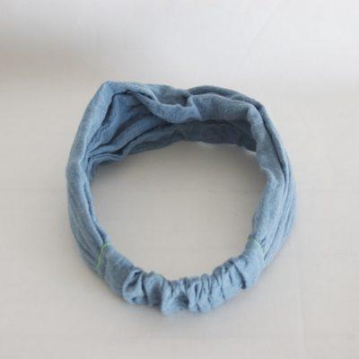 草木染め カディコットンのヘアバンド《藍ブルー》