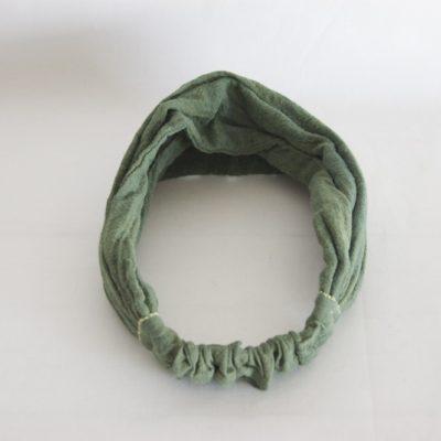 草木染め カディコットンのヘアバンド《グリーン》