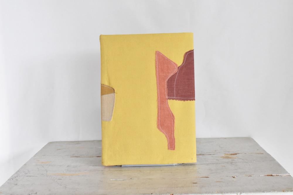 B5ノートカバー|草木染め 大人のリネンのノートカバー コラージュ#04