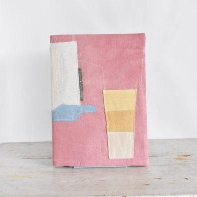 B5ノートカバー|草木染め 大人のリネンのノートカバー コラージュ#05