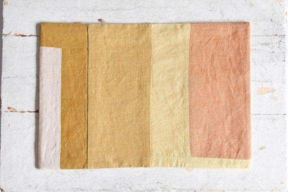 B5ノートカバー|草木染め 大人のリネンのノートカバー モダンキルト#01