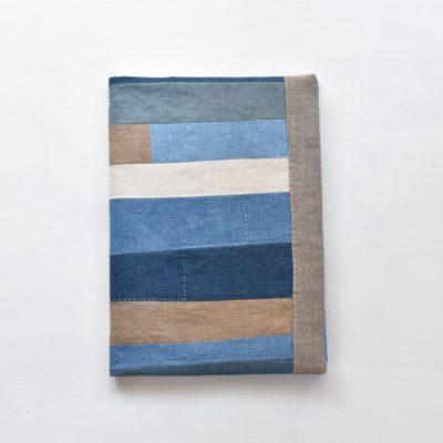 B5ノートカバー|草木染め モダンキルトのノートカバー #07