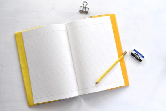 B5ノートカバー|草木染め モダンキルトのノートカバー #08