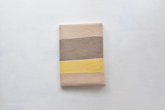 A5ノートカバー|草木染め モダンキルトのノートカバー #04