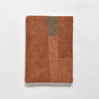 A5ノートカバー|柿渋染め モダンキルトのノートカバー #01