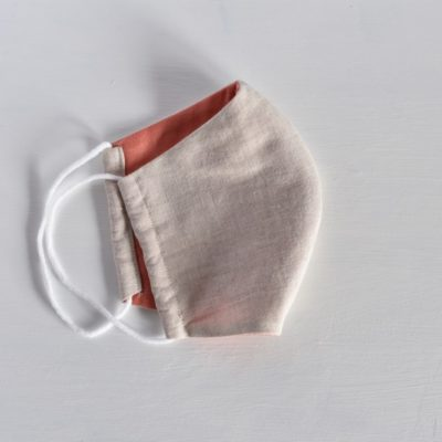 国産ダブルガーゼの立体型の布マスク《ピンク》