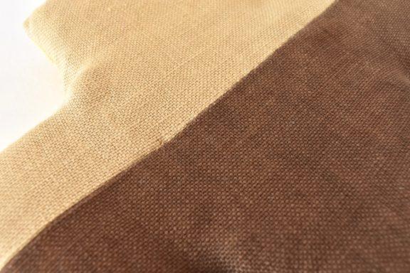 草木染め:モダンキルトのポットマット クロス#12