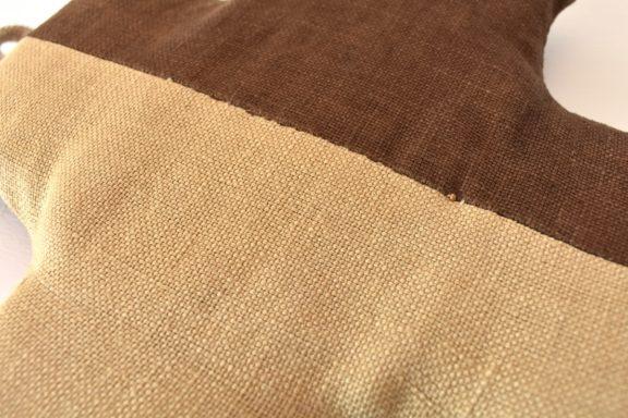 草木染め:モダンキルトのポットマット クロス#13